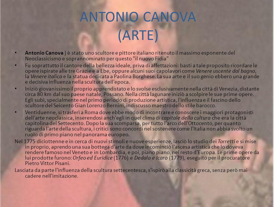 ANTONIO CANOVA (ARTE)
