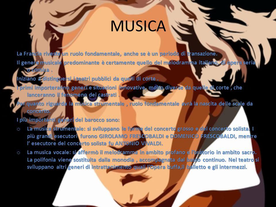 MUSICA La Francia riveste un ruolo fondamentale, anche se è un periodo di transazione.