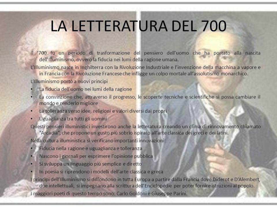 LA LETTERATURA DEL 700