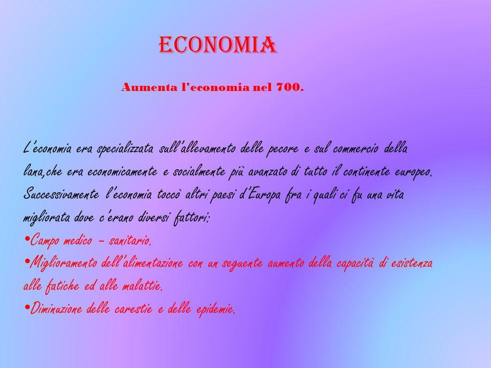 Aumenta l'economia nel 700.