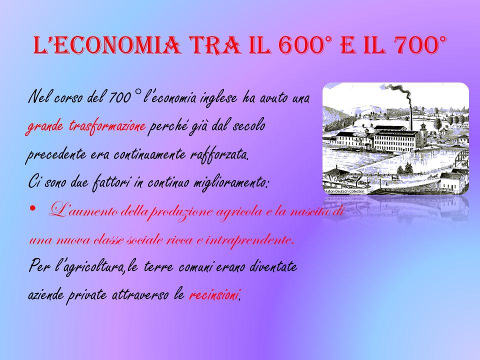 L'economia tra il 600° e il 700°