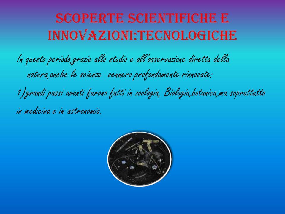 Scoperte scientifiche e innovazioni:tecnologiche
