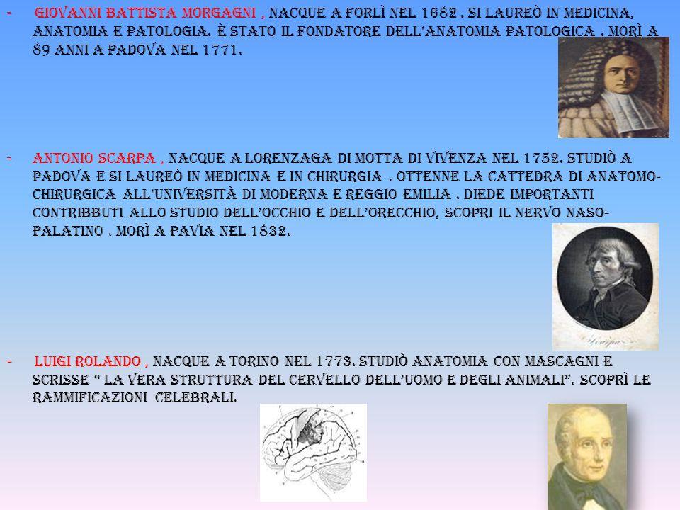 - Giovanni battista morgagni , nacque a forlì nel 1682