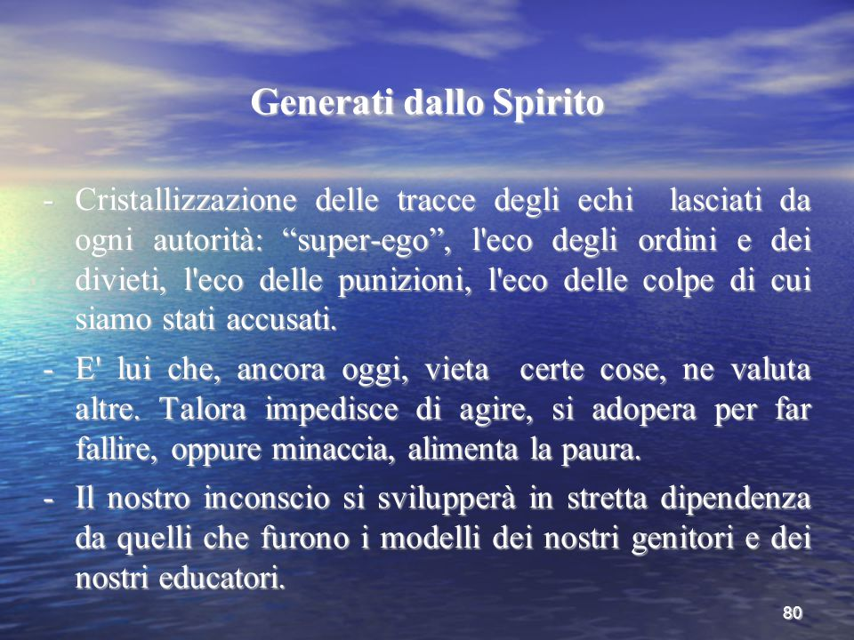 Generati dallo Spirito