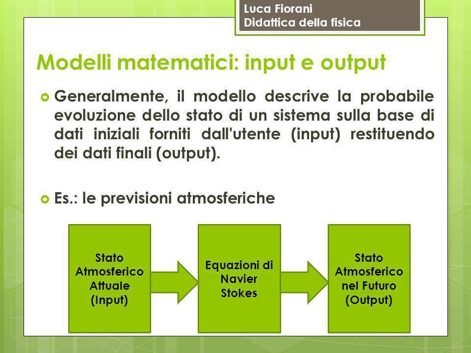 Modelli matematici: input e output