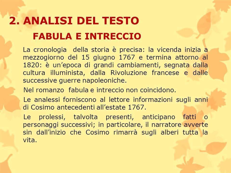 2. ANALISI DEL TESTO FABULA E INTRECCIO