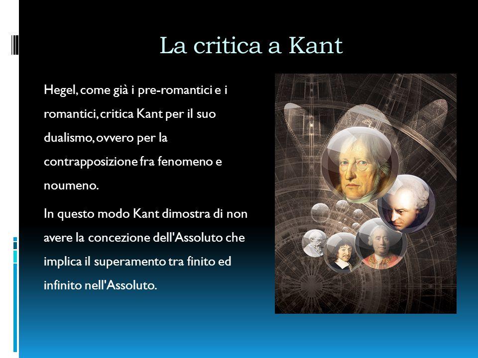 La critica a Kant