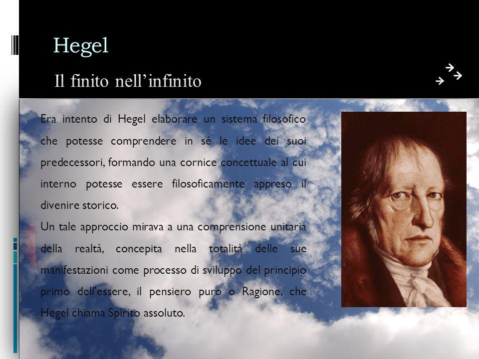 Hegel Il finito nell'infinito
