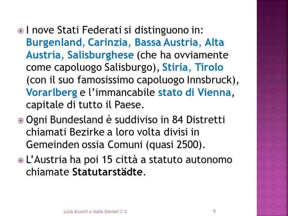 L'Austria ha poi 15 città a statuto autonomo chiamate Statutarstädte.