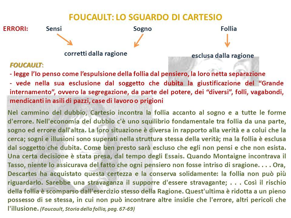FOUCAULT: LO SGUARDO DI CARTESIO