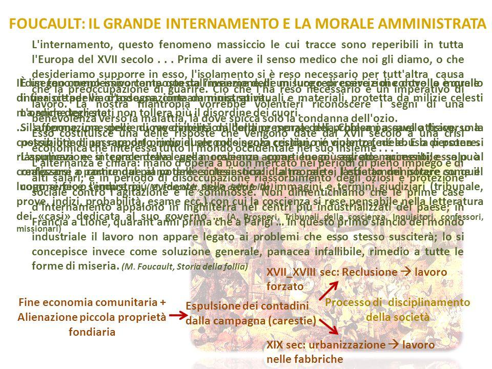 FOUCAULT: IL GRANDE INTERNAMENTO E LA MORALE AMMINISTRATA