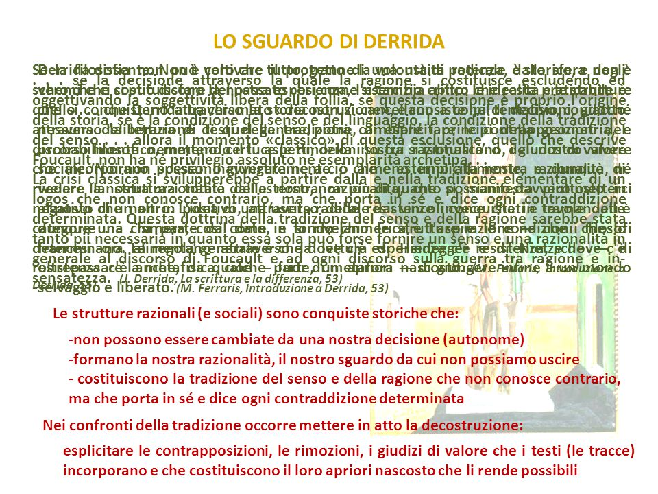 LO SGUARDO DI DERRIDA