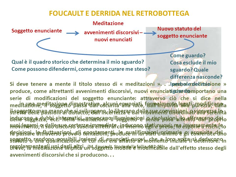 FOUCAULT E DERRIDA NEL RETROBOTTEGA
