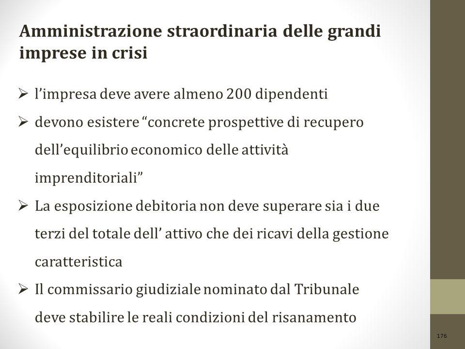Amministrazione straordinaria delle grandi imprese in crisi