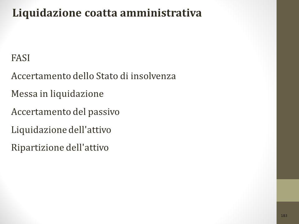 Liquidazione coatta amministrativa
