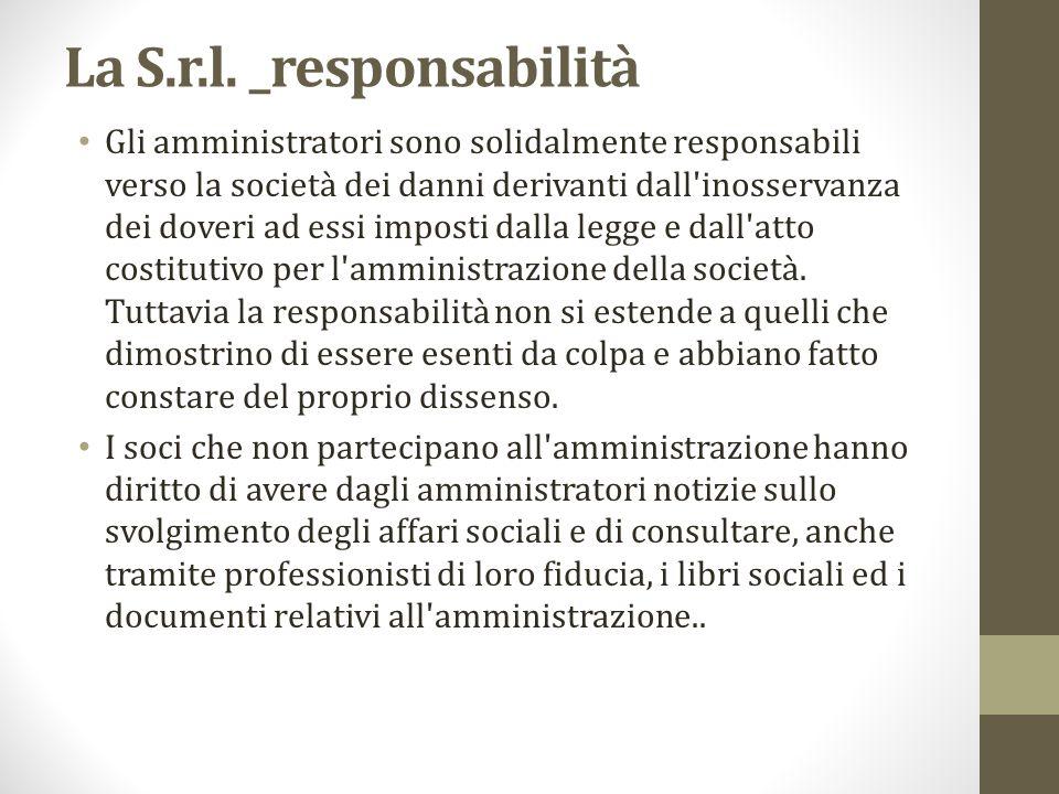 La S.r.l. _responsabilità