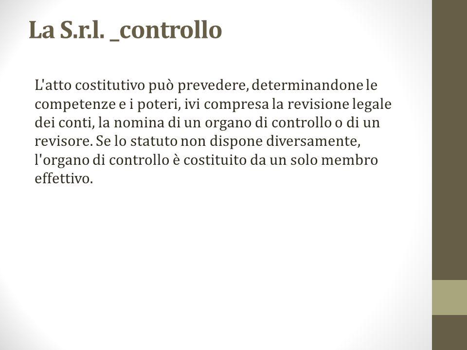 La S.r.l. _controllo