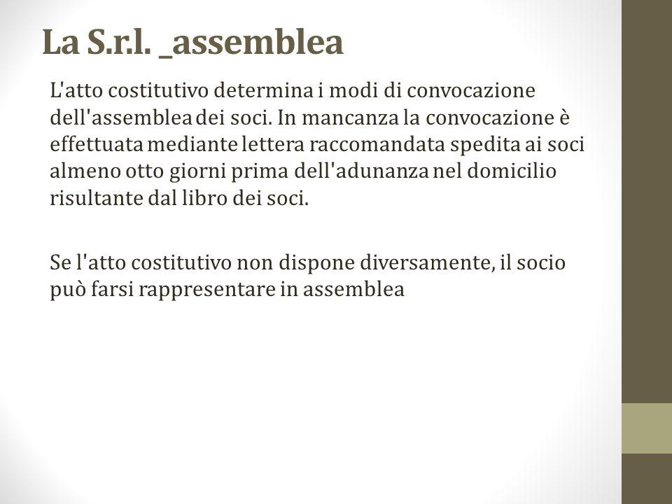 La S.r.l. _assemblea