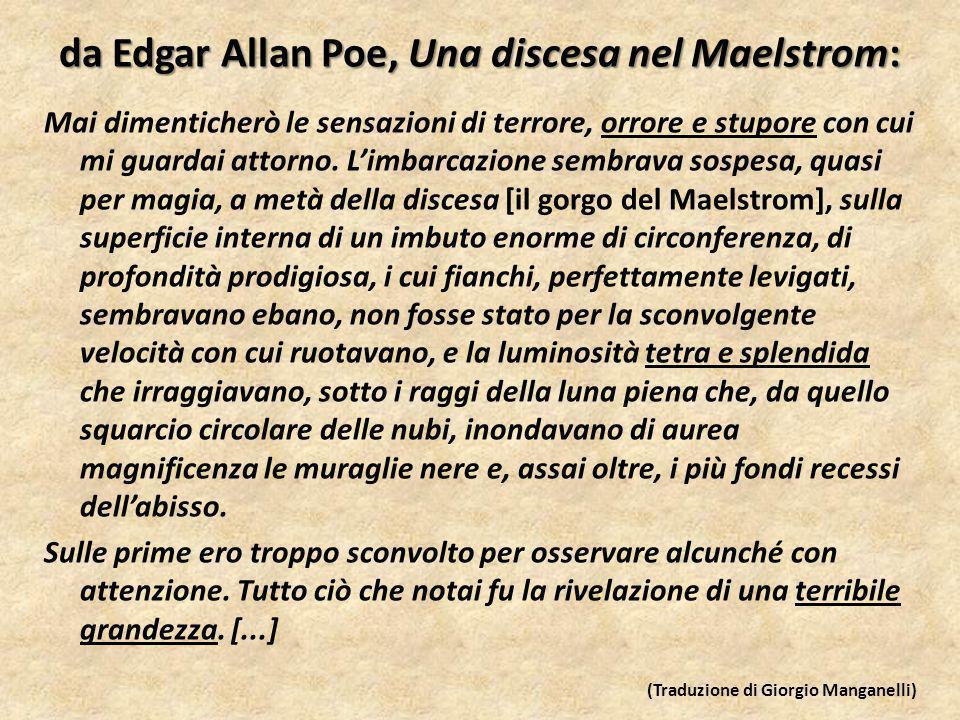da Edgar Allan Poe, Una discesa nel Maelstrom: