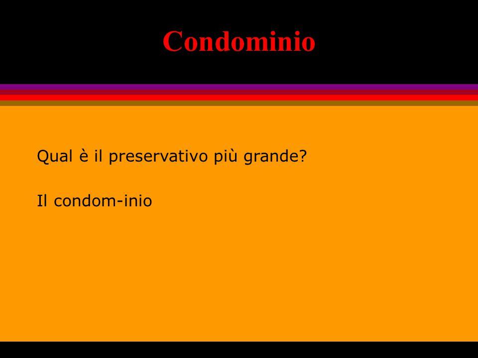 Condominio Qual è il preservativo più grande Il condom-inio