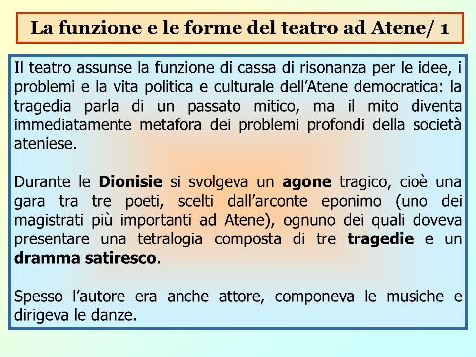 La funzione e le forme del teatro ad Atene/ 1
