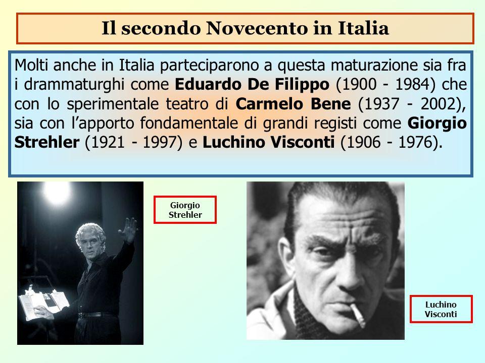 Il secondo Novecento in Italia