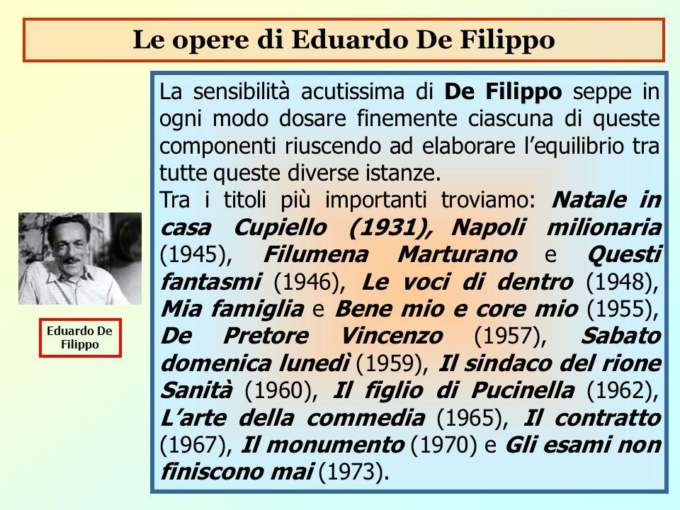 Le opere di Eduardo De Filippo