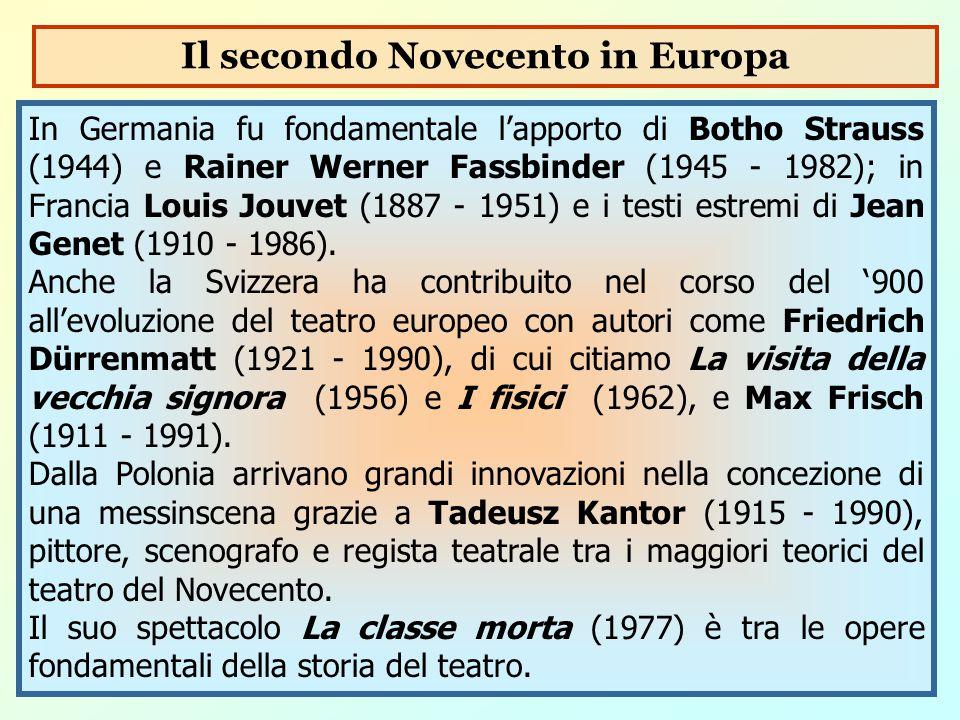 Il secondo Novecento in Europa