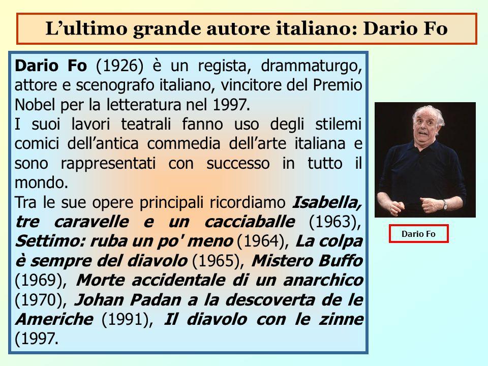L'ultimo grande autore italiano: Dario Fo