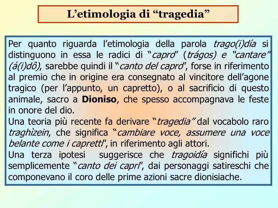 L'etimologia di tragedia