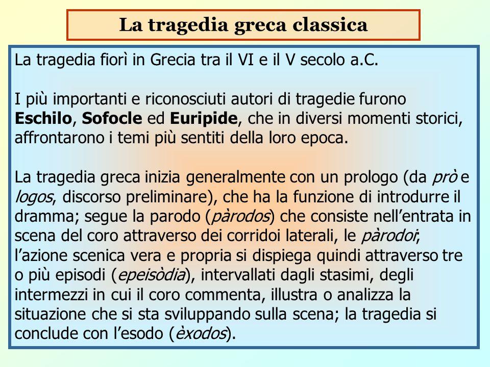 La tragedia greca classica