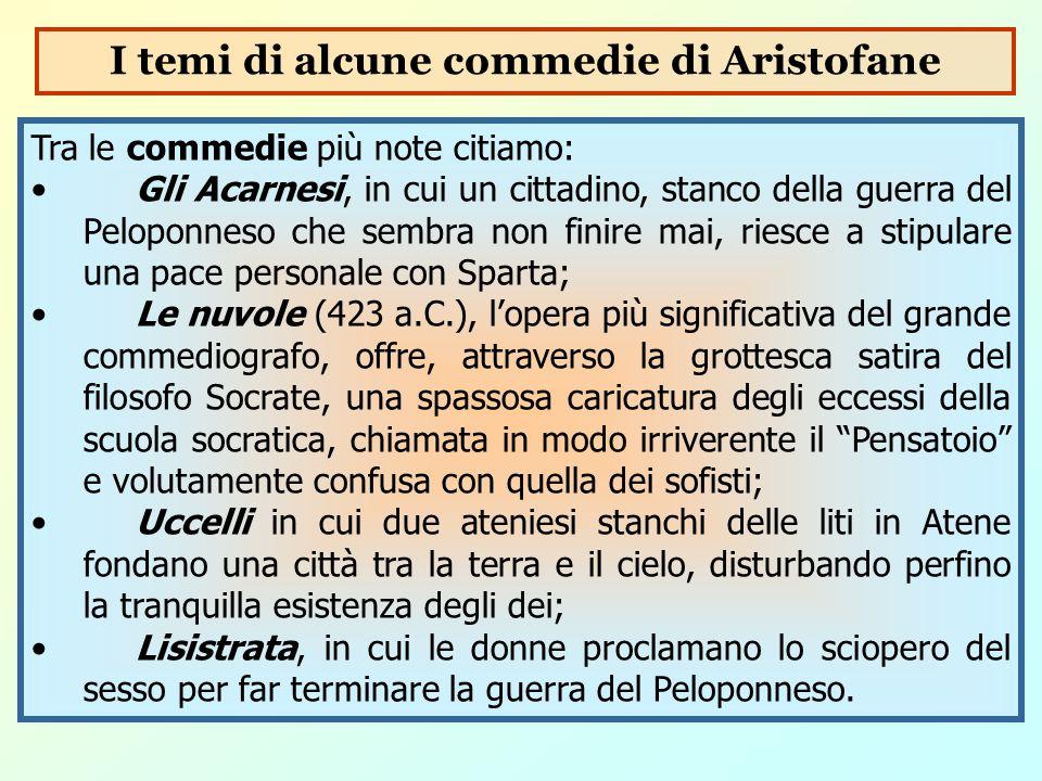 I temi di alcune commedie di Aristofane