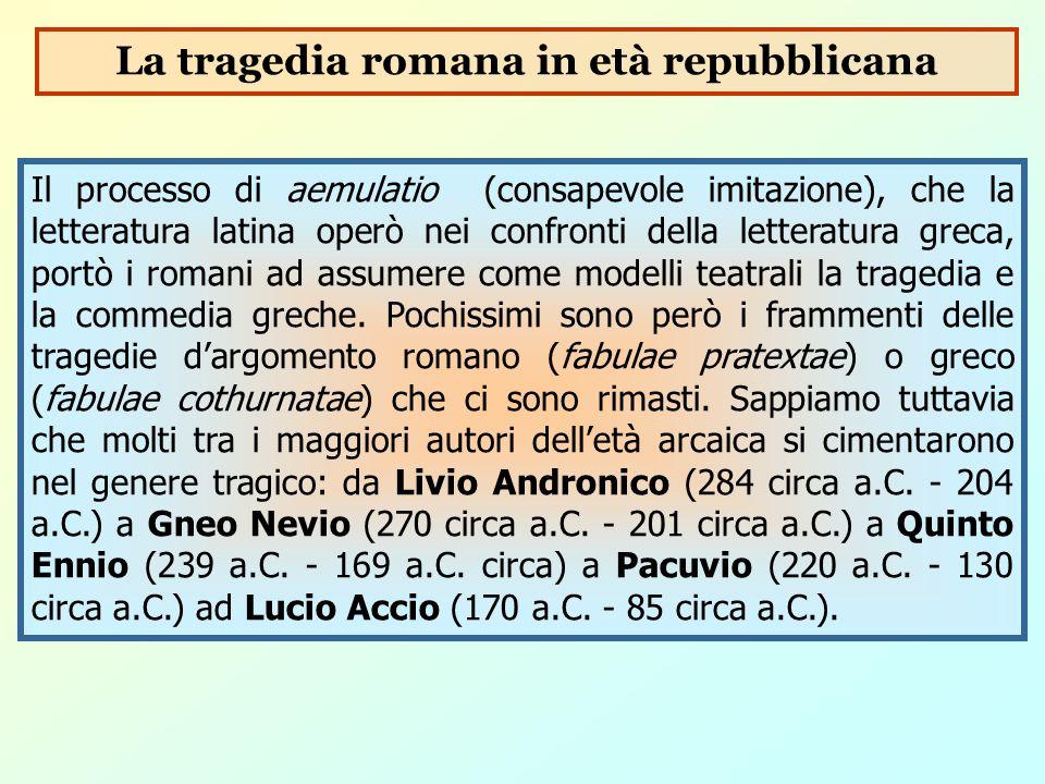 La tragedia romana in età repubblicana