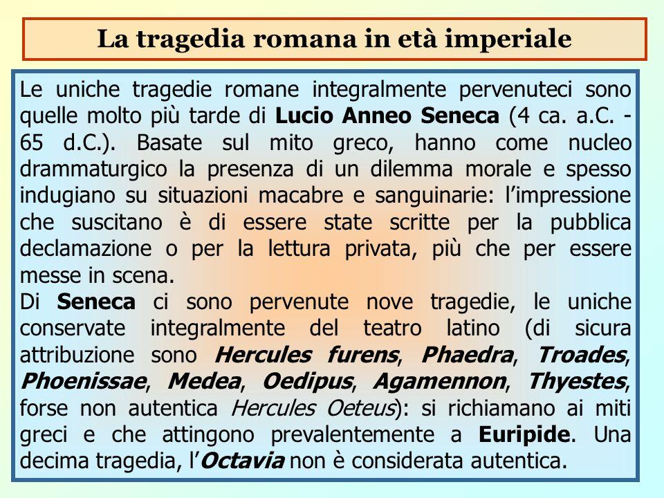La tragedia romana in età imperiale