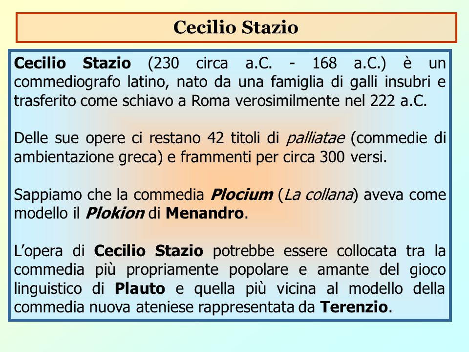 Cecilio Stazio