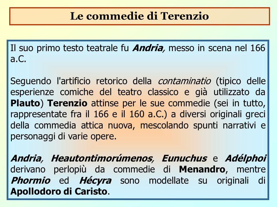 Le commedie di Terenzio
