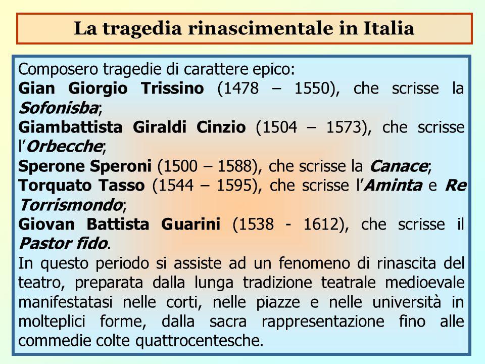 La tragedia rinascimentale in Italia