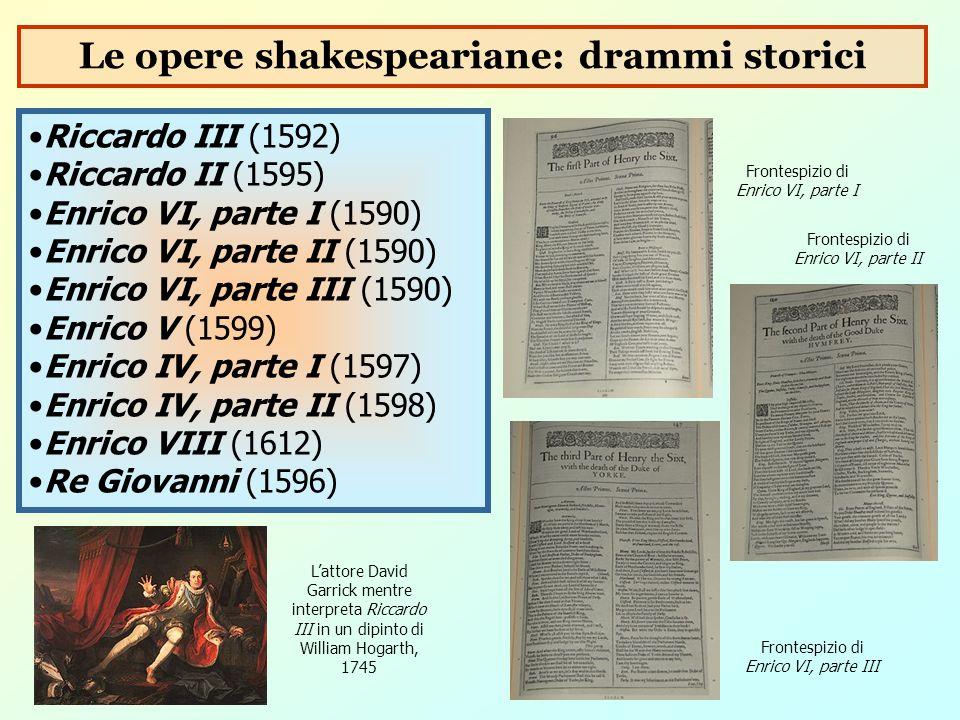 Le opere shakespeariane: drammi storici