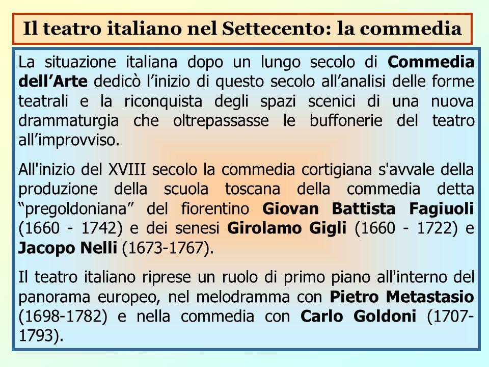 Il teatro italiano nel Settecento: la commedia