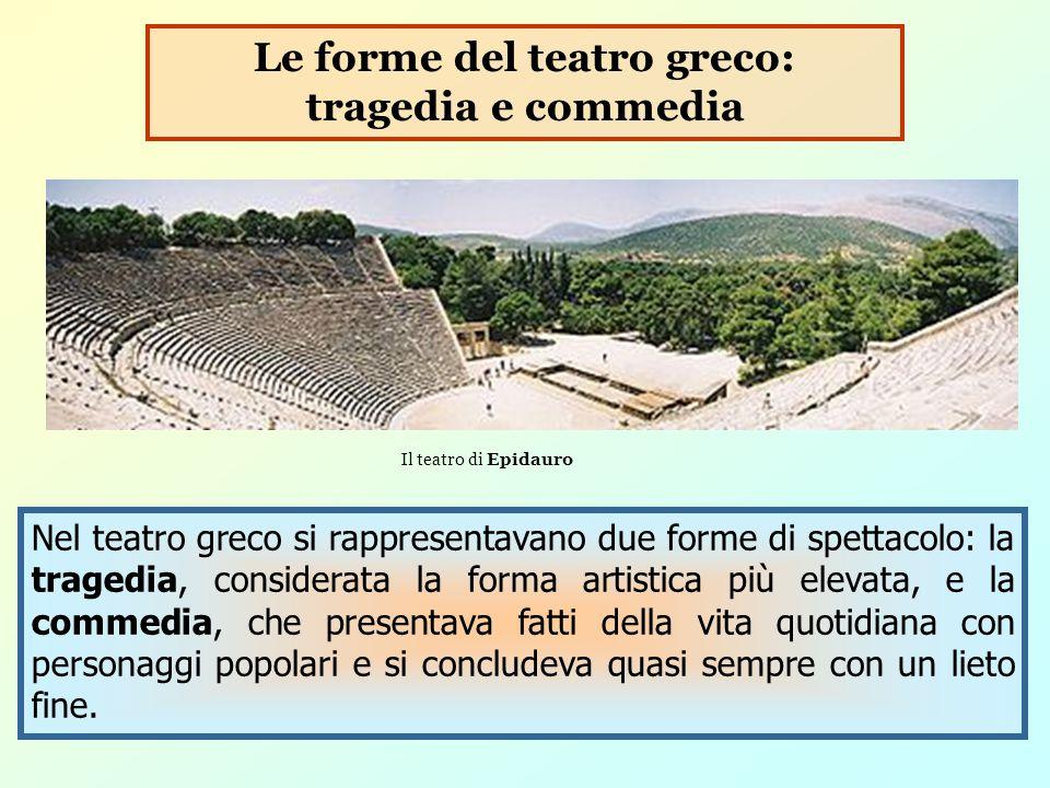 Le forme del teatro greco: