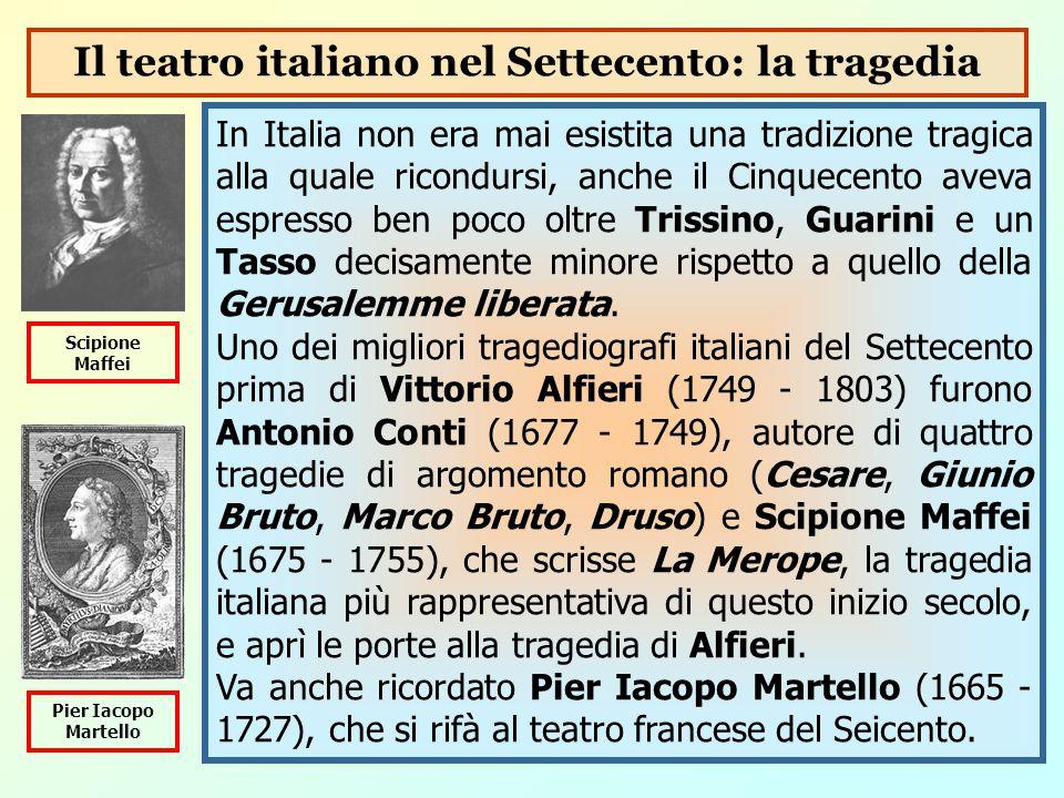 Il teatro italiano nel Settecento: la tragedia