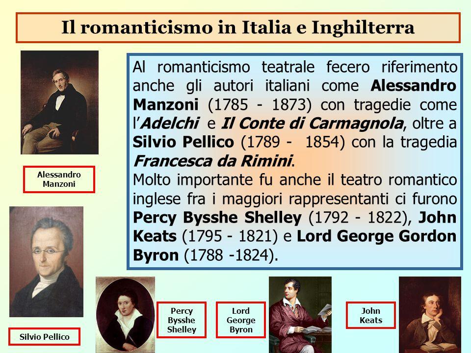 Il romanticismo in Italia e Inghilterra