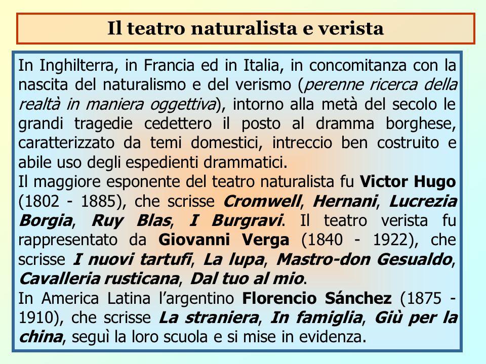 Il teatro naturalista e verista