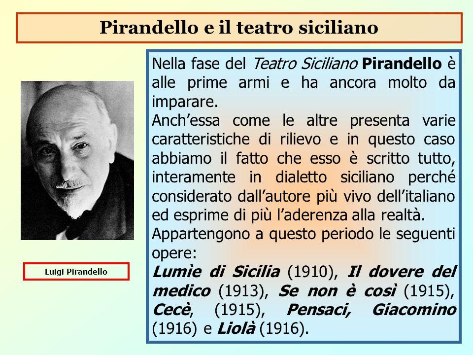 Pirandello e il teatro siciliano