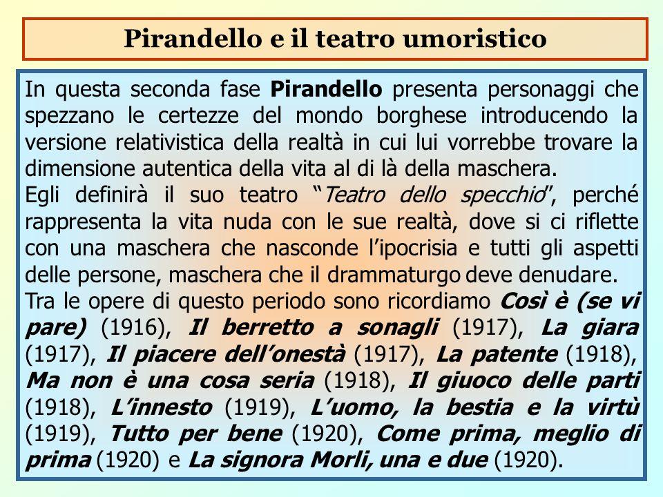 Pirandello e il teatro umoristico