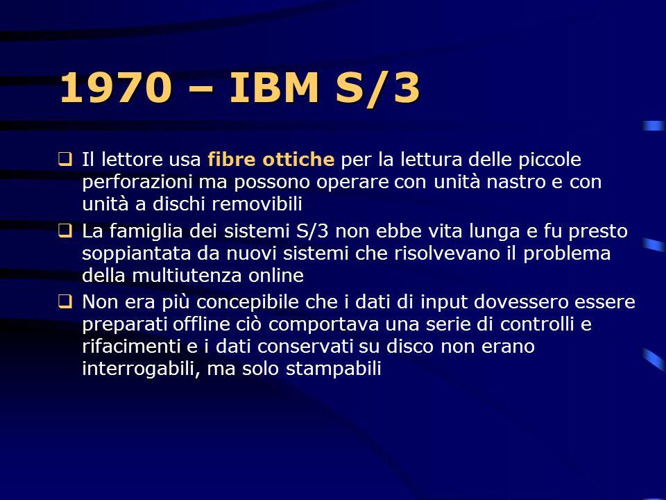 1970 – IBM S/3