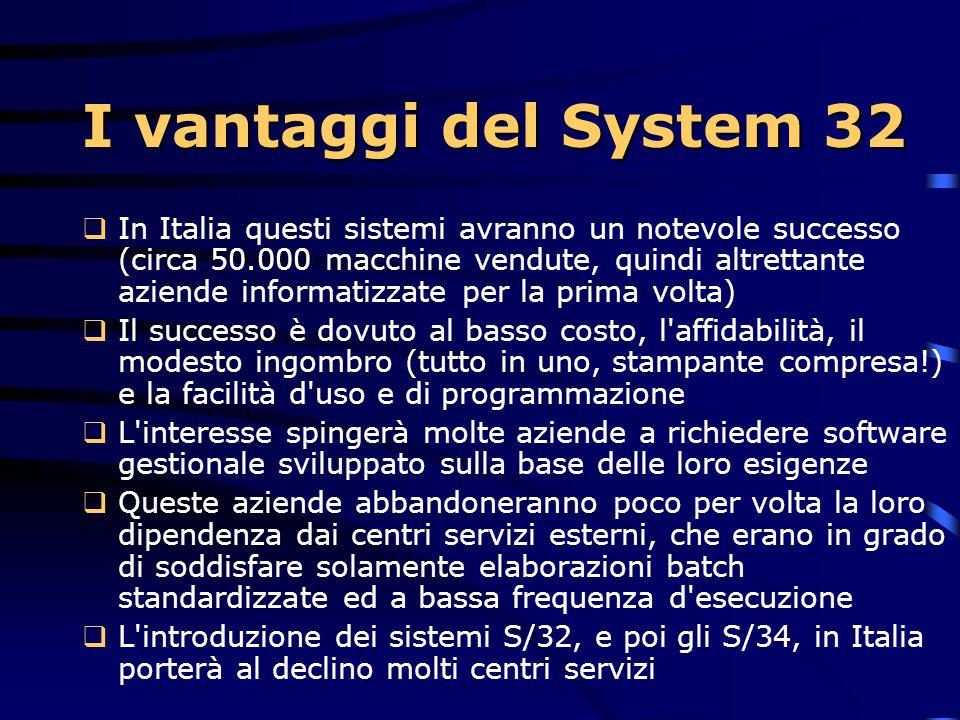 I vantaggi del System 32