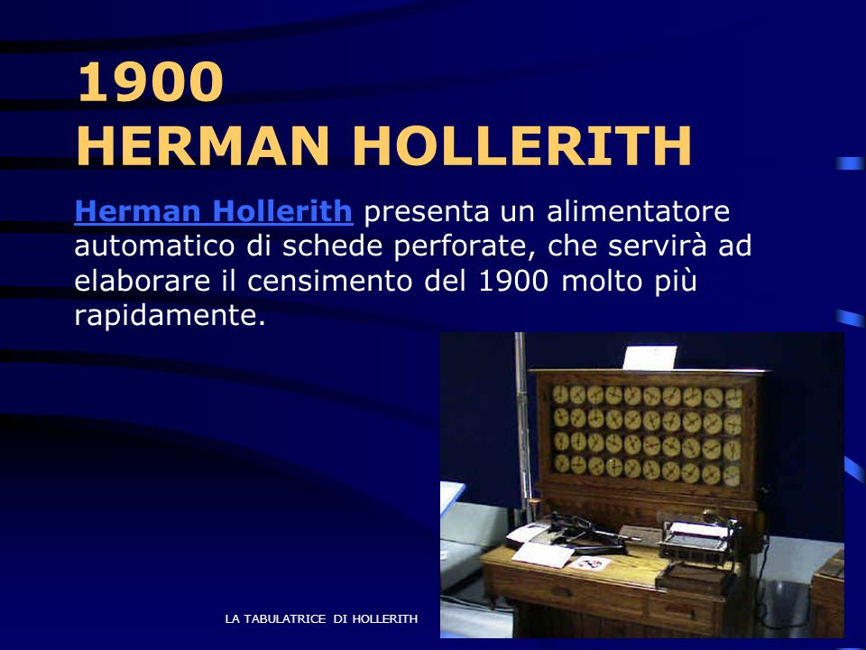 1900 HERMAN HOLLERITH