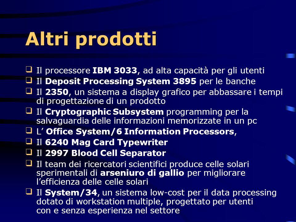 Altri prodotti Il processore IBM 3033, ad alta capacità per gli utenti