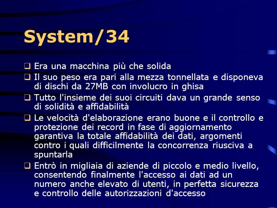 System/34 Era una macchina più che solida